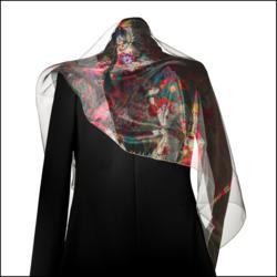 Phantome Scarf designed by famous Swiss textile designer, Jakob Schläpfer